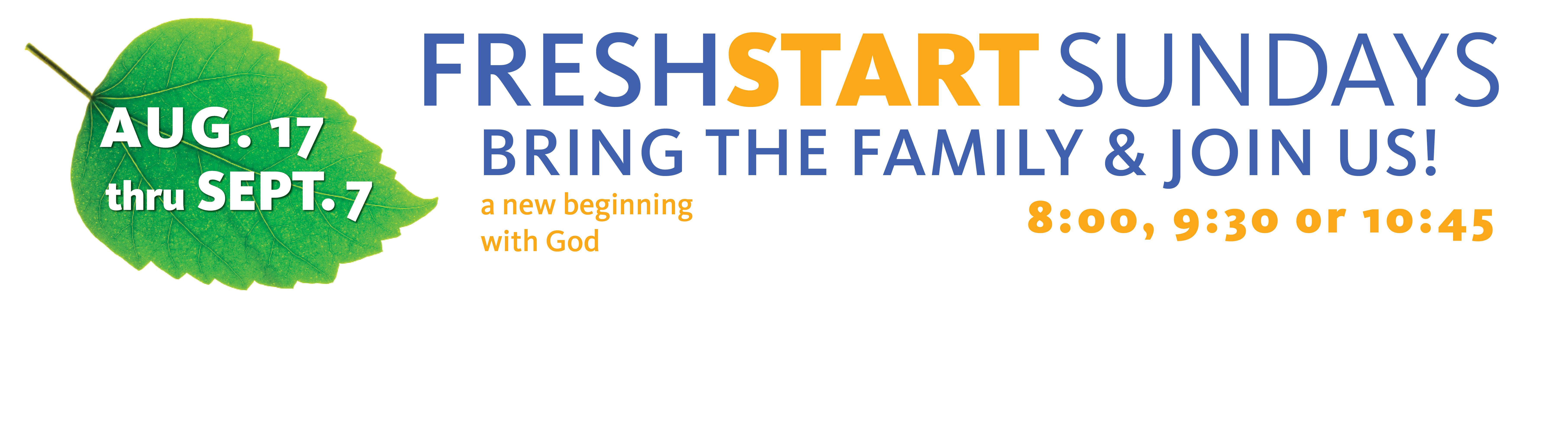 fresh start slider 2014